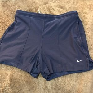 NIKE dry fit shorts-navy blue!!